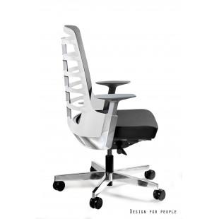 Fotel biurowy NELLY M biały tkanina lub skóra
