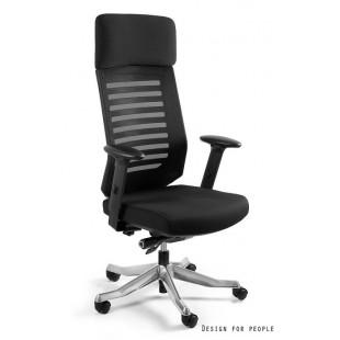 Fotel biurowy VALEO czarny tkanina + siatka