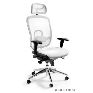 Fotel biurowy  dla wymagających WIKTOR biały