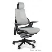 Fotel biurowy WAWA siatka jasno szara