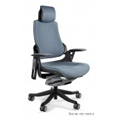 Fotel biurowy WAWA tkanina ciemno szara