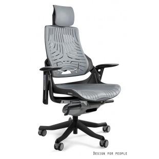 Fotel biurowy WAWA elastomer szary