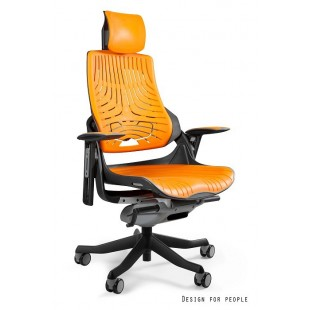 Fotel biurowy WAWA elastomer pomarańczowy