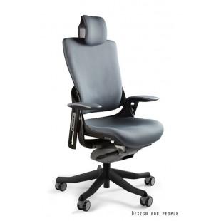 Fotel biurowy WAWA 2 tkanina ciemno szara