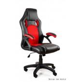 Fotel gamingowy DYNAMIT  V7 czarno/czerwony