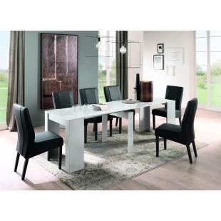 SOLLE rozkładany wielofunkcyjny stół/konsola lakier biały