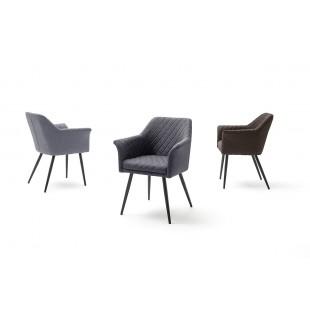 CORVIN krzesło nogi lakier czarny mat, trzy kolory tkaniny