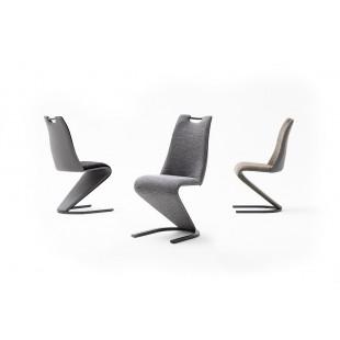 VITO krzesło stelaż lakier czarny mat, trzy kolory tkaniny