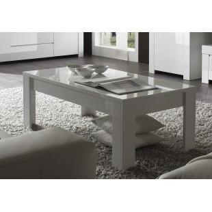 AMBROZJA biały włoski stolik kawowy 122/65/45 cm