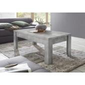 SINIORA włoski stolik kawowy optyka betonu 122/65/45 cm