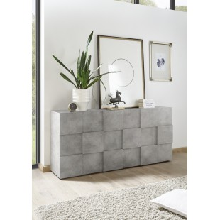 SINIORA włoska komoda optyka betonu 181 / 42 / 84 cm