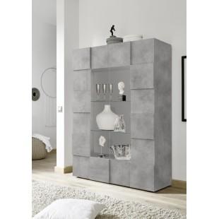 SINIORA włoska witryna optyka betonu 121 / 42 / 166 cm
