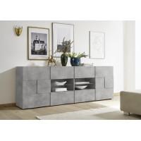 SINIORA włoska komoda optyka betonu 241 / 42 / 84 cm