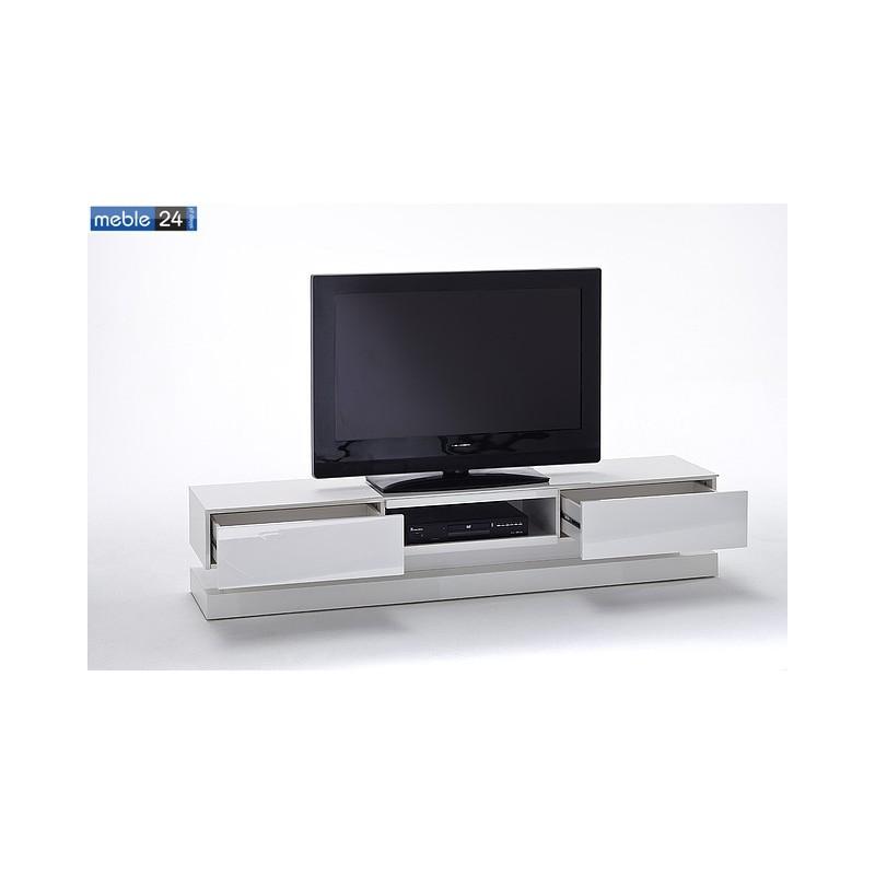 stolik pod tv bia y z o wietleniem led paulina 180 39 36 cm meble24sklep pl. Black Bedroom Furniture Sets. Home Design Ideas