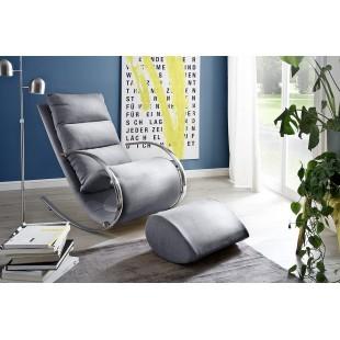 JORKI  fotel + pufa relax tkanina 67/102/111 cm