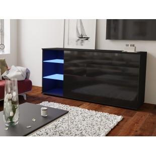 MODO komoda czarna LED 160/75/37 fronty połysk lub mat