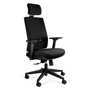 SEAL  fotel biurowy tkanina czarna