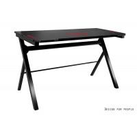 DYNAMIT V8 biurko gamingowe  czarne 120/60/72 cm