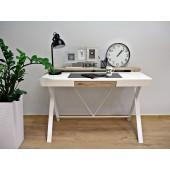 AMMO biurko białe, blat z matą antypoślizgową