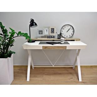 AMMO biurko 120/60 białe, blat z matą antypoślizgową