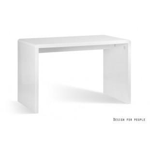 BISET biurko białe, lakier wysoki połysk 120/76/60 cm