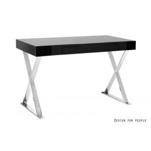 ZEFIRRO biurko lakierowane czarne  120/76/55 cm