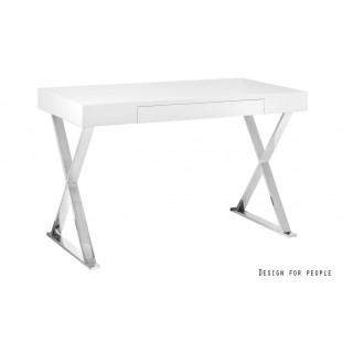 ZEFIRRO biurko lakierowane białe  120/76/55 cm
