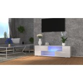 MODO biała szafka RTV LED 152/42,5/37 cm fronty połysk lub mat