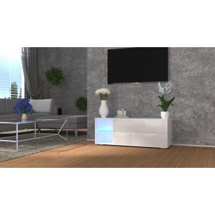 MODO biała szafka RTV LED 120/42,5/37 cm fronty połysk lub mat
