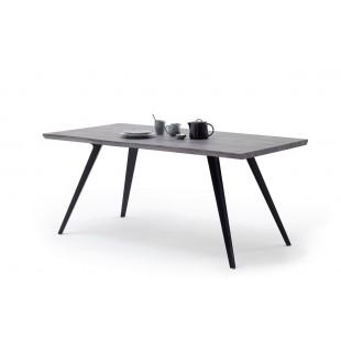 KARAT stół nogi metalowe blat optyka dąb 180/90/76 cm