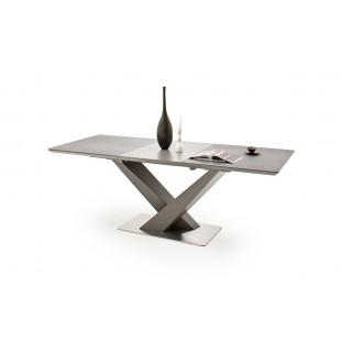 AKOR antracytowy stół z ceramicznym blatem 160-220/90/76 cm