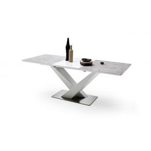AKOR biały stół z ceramicznym blatem 160-220/90/76 cm