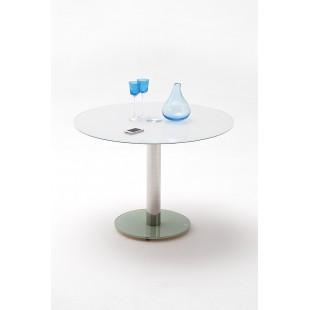 FALKON stół ze szklanym blatem biały/taupe 100 cm