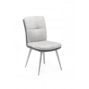 Emilia krzesło nogi stal szlachetna szczotkowana