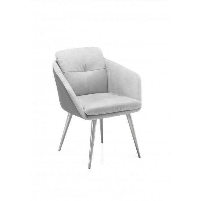 Emilia krzesło z podłokietnikami nogi stal szlachetna