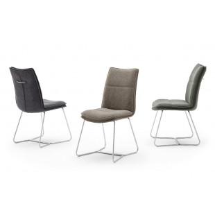 OPTON E krzesło  tkanina trzy kolory, stelaż stal szlachetna