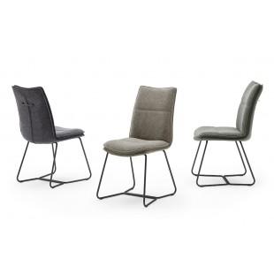 OPTON S krzesło  tkanina trzy kolory, stelaż metal czarny mat