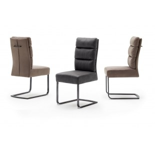 ROCH krzesło tkanina antik, stelaż lakier czarny mat lub stal szlachetna