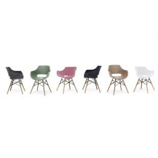 ROCK  krzesło plastikowe, nogi naturalny buk