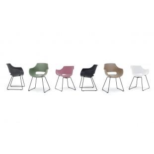 ROCK  krzesło plastikowe, stelaż ramowy