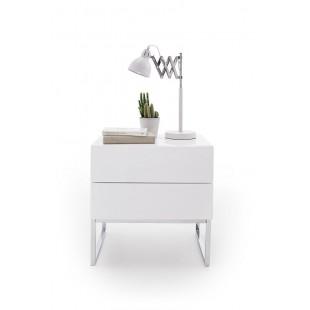 AMALFI 3 szafka nocna lakier biały połysk 50/40/50 cm
