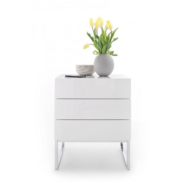 AMALFI 4 szafka nocna lakier biały połysk 50/40/60 cm