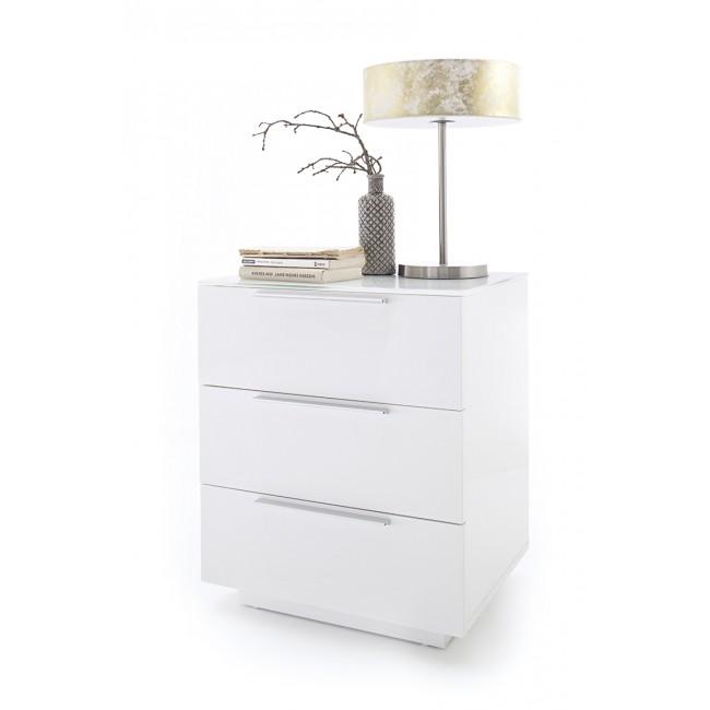 AMALFI 6 szafka nocna lakier biały połysk 50/40/60 cm