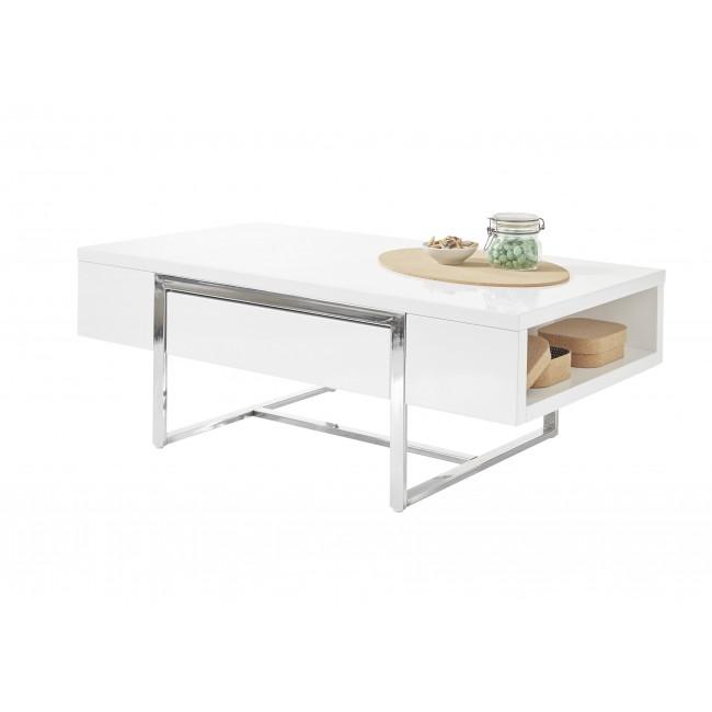 HATON stolik kawowy biały połysk 110/60/40 cm