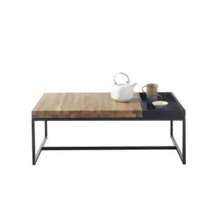 LUBAN stolik kawowy drewno dębowe 107/65/38 cm