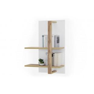 KALI panel ścienny biel + dąb wotan 67/25/96 cm