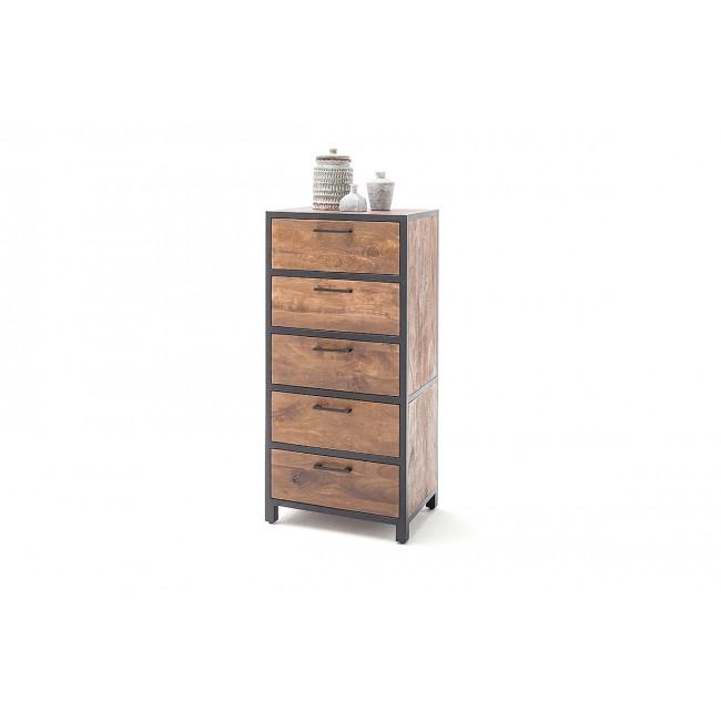 DUBAI  komoda 5-szuflad drewno mango 58/40/120  cm