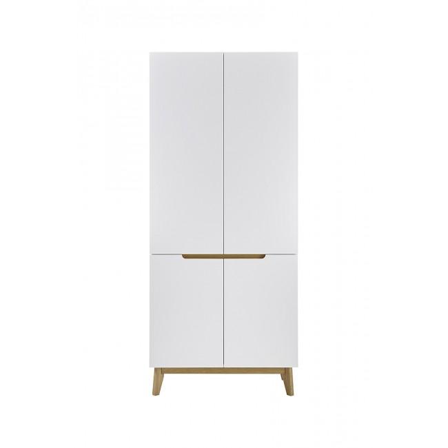 Szafa garderobiana TARIO lakier mat /nogi dąb 85 / 40 / 196 cm
