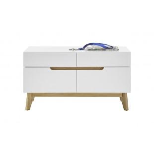 TARIO ławka lakier mat /nogi dąb 97 / 40 / 53 cm