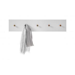 TARIO wieszak ścienny lakier mat /haczyki dąb 97 / 2 / 20 cm